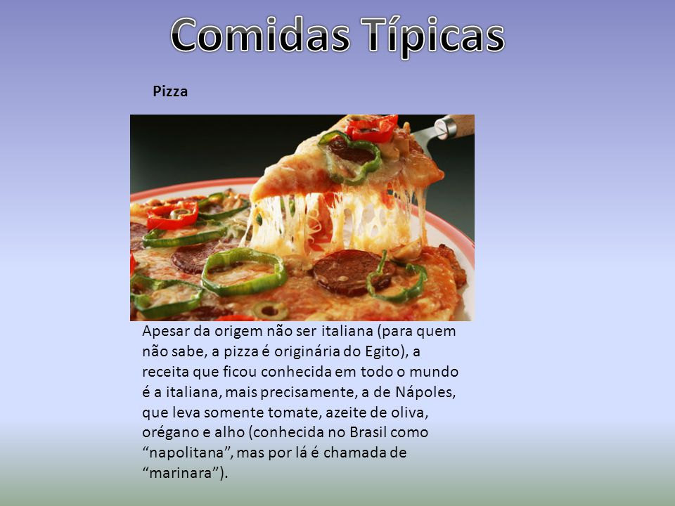 Comidas Típicas Pizza.