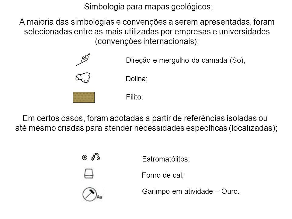 Simbologia para mapas geológicos;