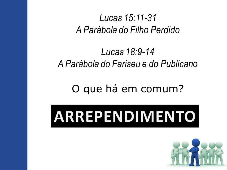 ARREPENDIMENTO Lucas 15:11-31 A Parábola do Filho Perdido