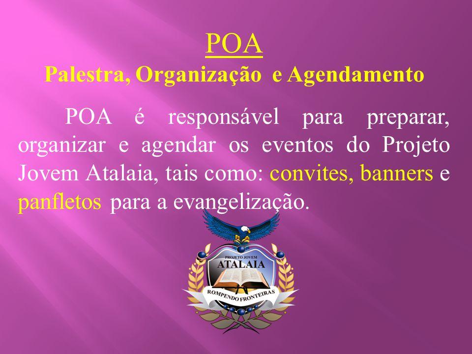 Palestra, Organização e Agendamento