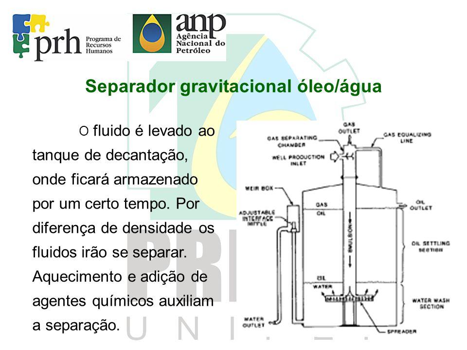 Separador gravitacional óleo/água