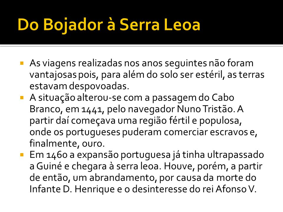 Do Bojador à Serra Leoa
