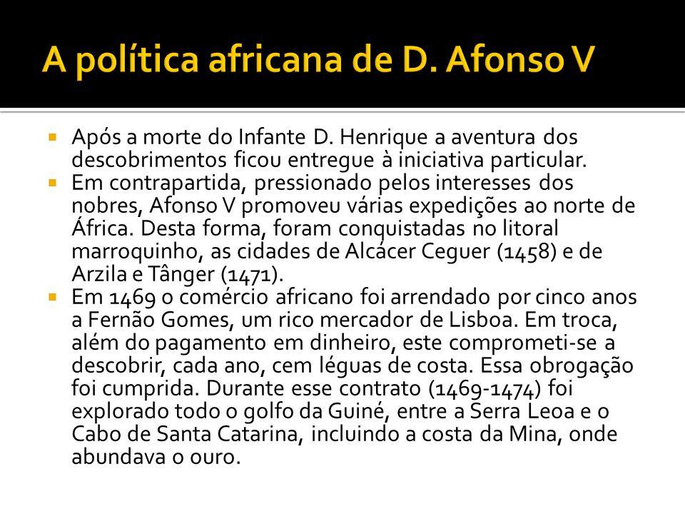 A política africana de D. Afonso V