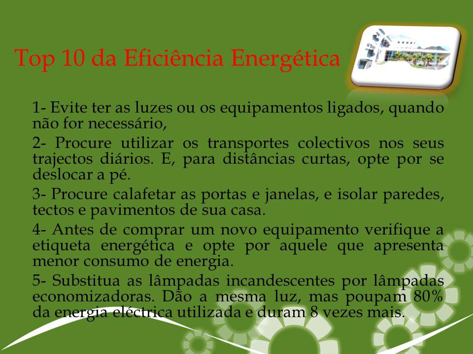 Top 10 da Eficiência Energética