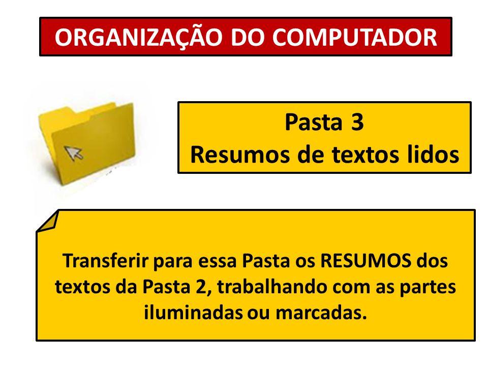 ORGANIZAÇÃO DO COMPUTADOR Resumos de textos lidos