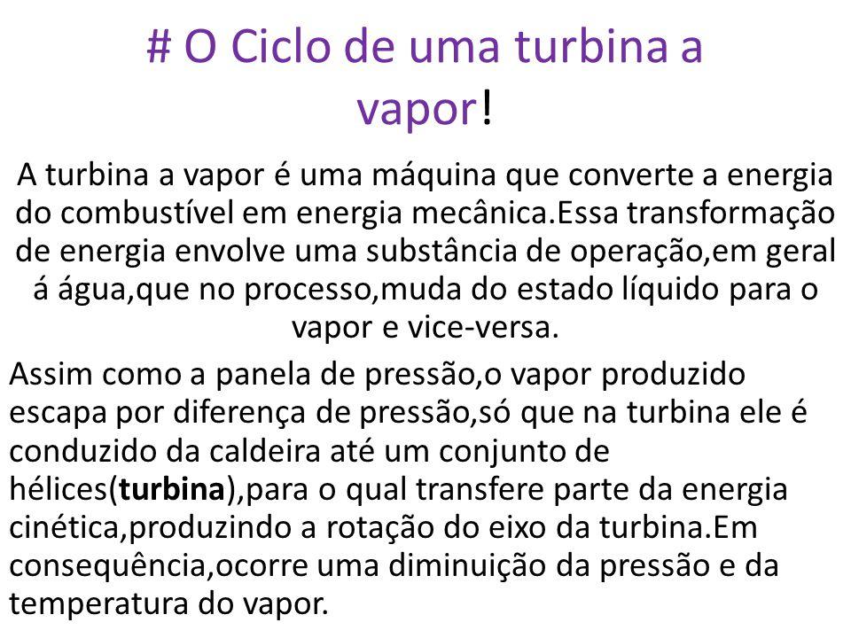 # O Ciclo de uma turbina a vapor!