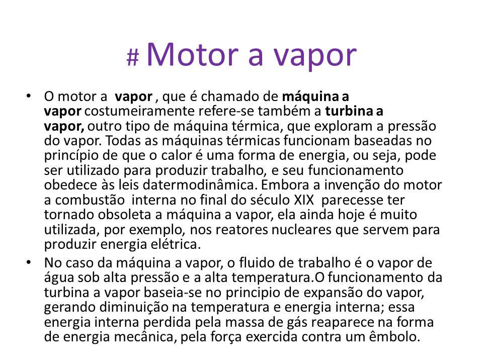 # Motor a vapor