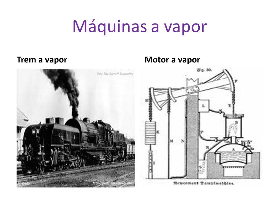 Máquinas a vapor Trem a vapor Motor a vapor