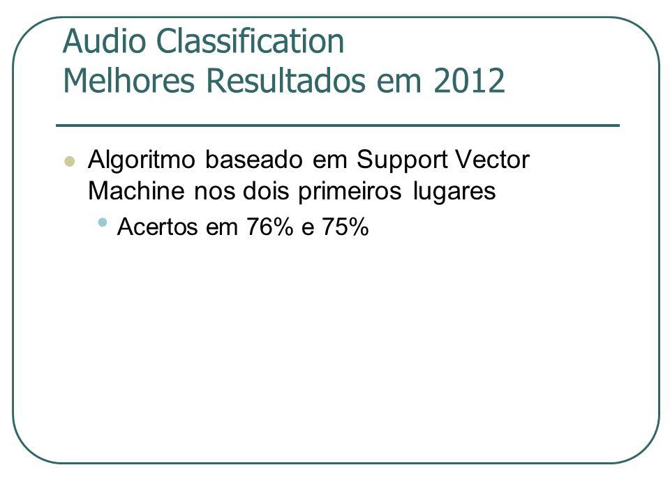 Audio Classification Melhores Resultados em 2012