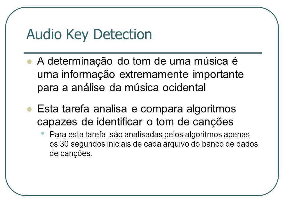 Audio Key Detection A determinação do tom de uma música é uma informação extremamente importante para a análise da música ocidental.