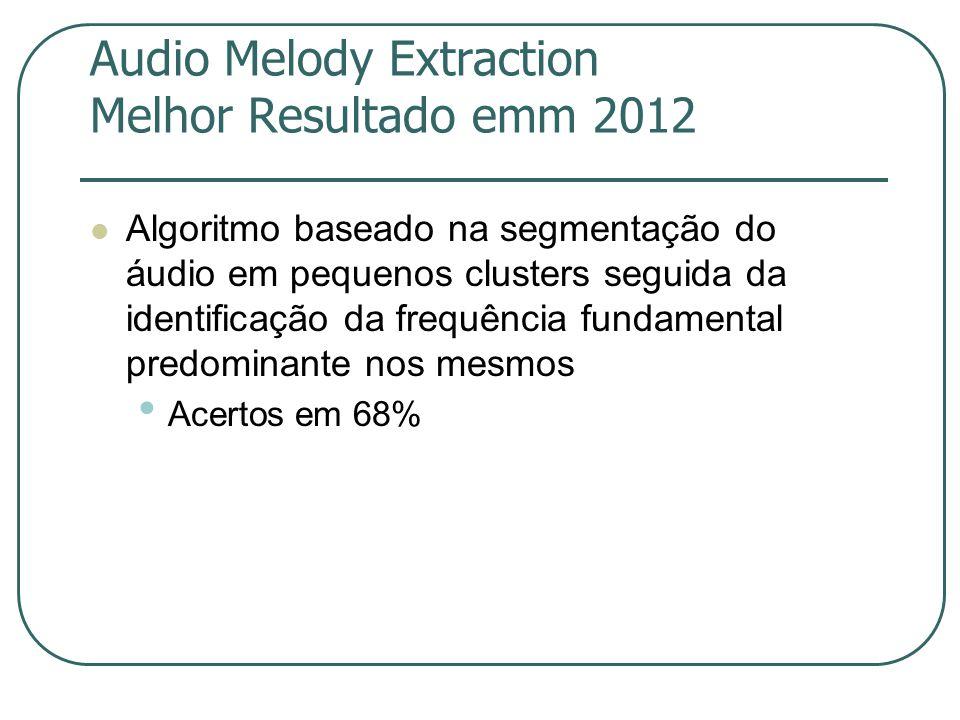 Audio Melody Extraction Melhor Resultado emm 2012