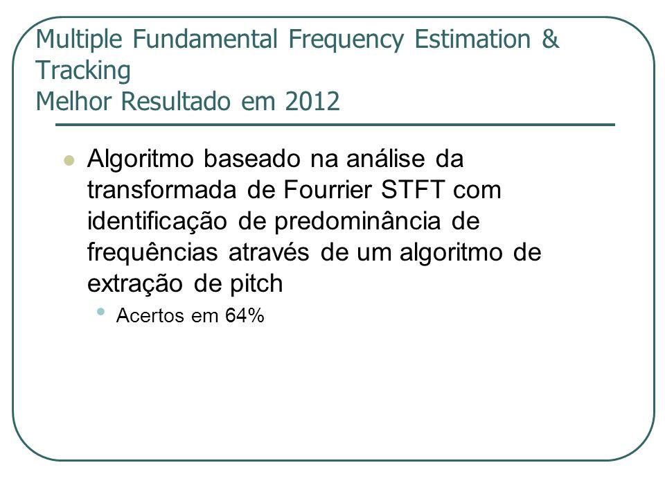 Multiple Fundamental Frequency Estimation & Tracking Melhor Resultado em 2012
