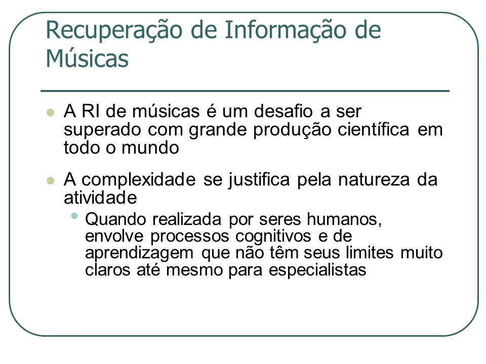 Recuperação de Informação de Músicas