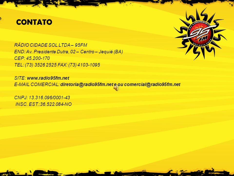 CONTATO RÁDIO CIDADE SOL LTDA – 95FM