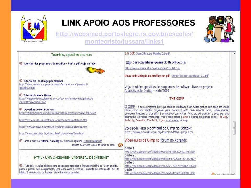 LINK APOIO AOS PROFESSORES