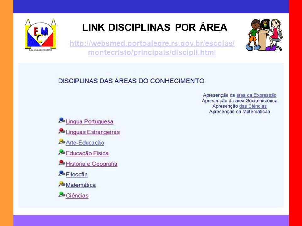 LINK DISCIPLINAS POR ÁREA