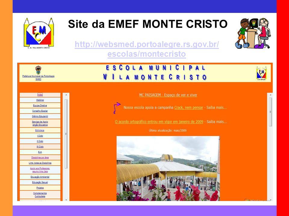 Site da EMEF MONTE CRISTO