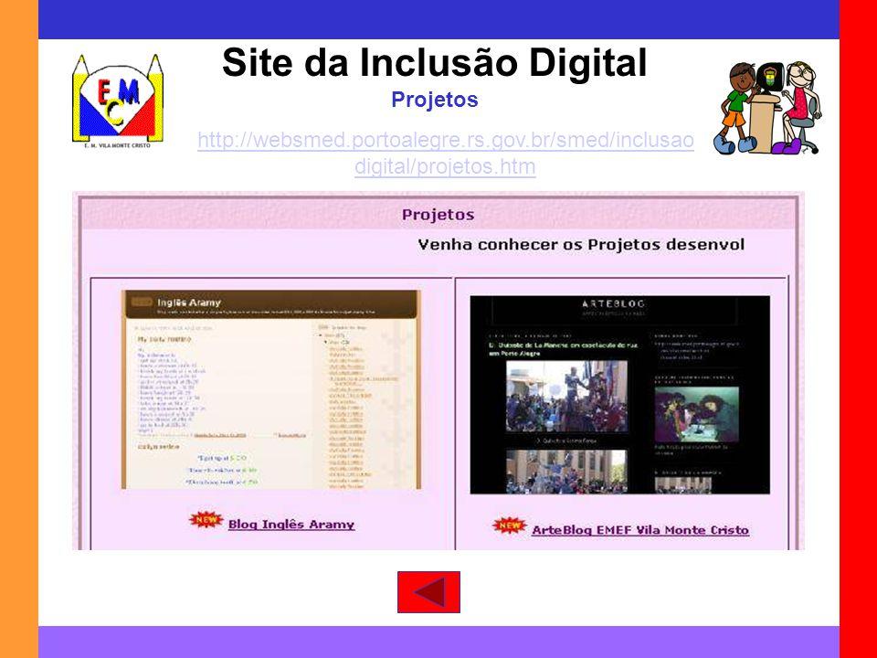 Site da Inclusão Digital Projetos