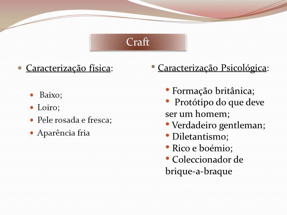 Craft Caracterização física: Caracterização Psicológica: