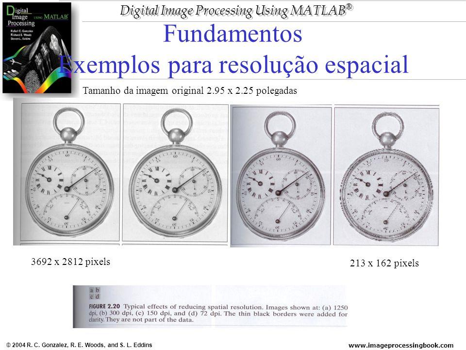 Fundamentos Exemplos para resolução espacial