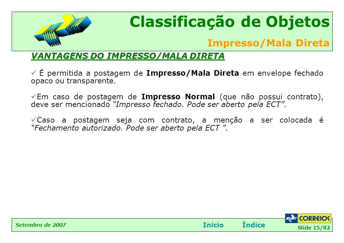 VANTAGENS DO IMPRESSO/MALA DIRETA