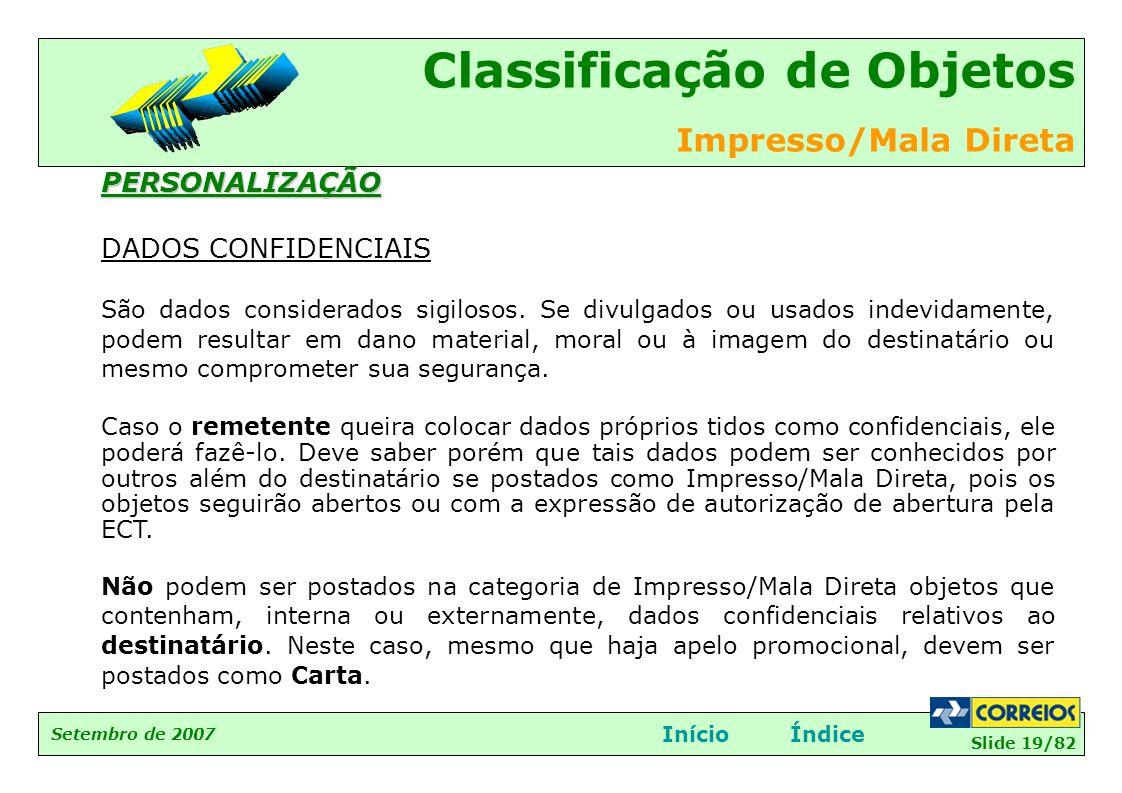 PERSONALIZAÇÃO DADOS CONFIDENCIAIS