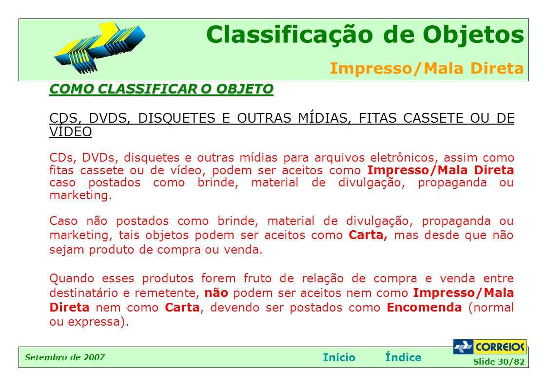 COMO CLASSIFICAR O OBJETO
