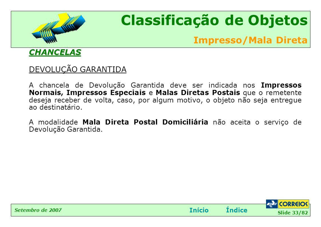 CHANCELAS DEVOLUÇÃO GARANTIDA