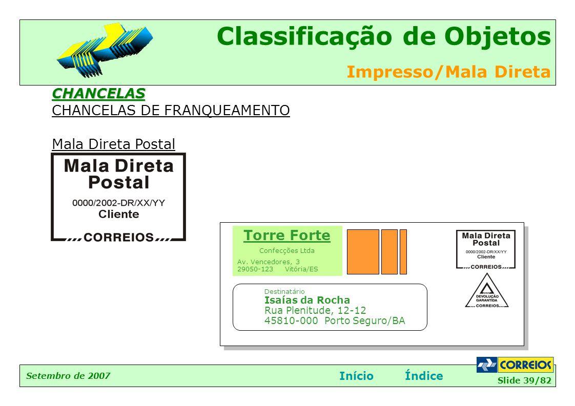 CHANCELAS DE FRANQUEAMENTO Mala Direta Postal