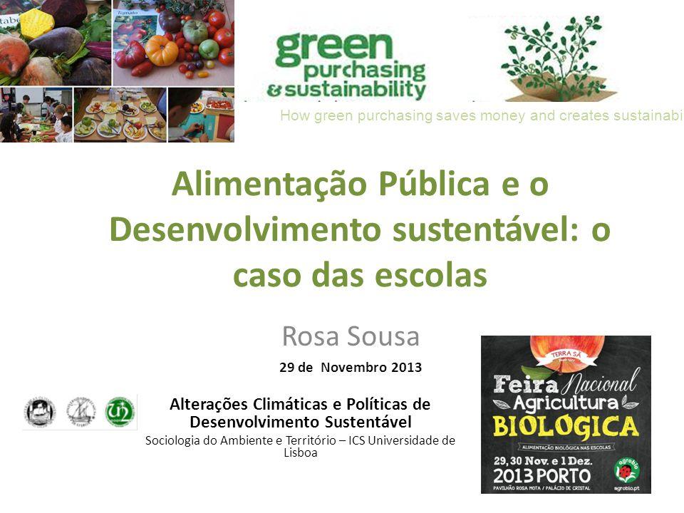 Alterações Climáticas e Políticas de Desenvolvimento Sustentável
