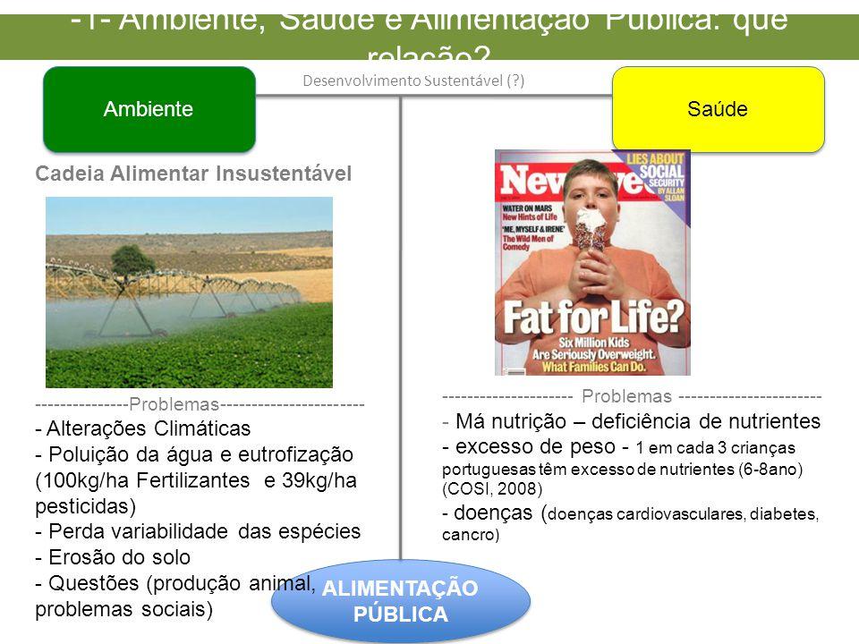 -1- Ambiente, Saúde e Alimentação Pública: que relação