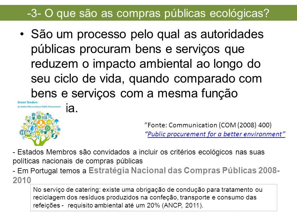 -3- O que são as compras públicas ecológicas
