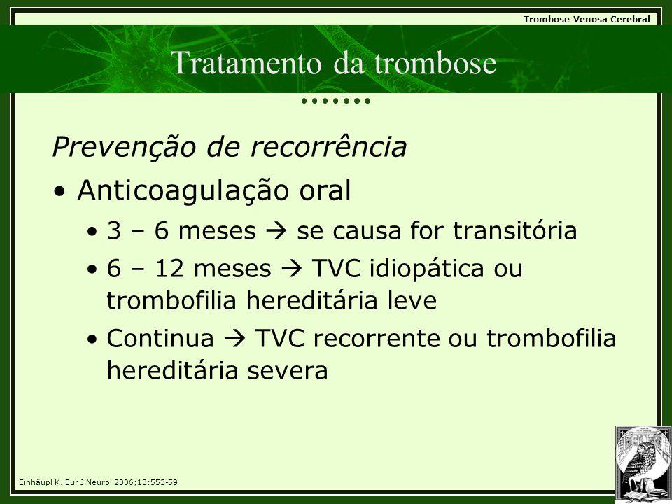 Tratamento da trombose