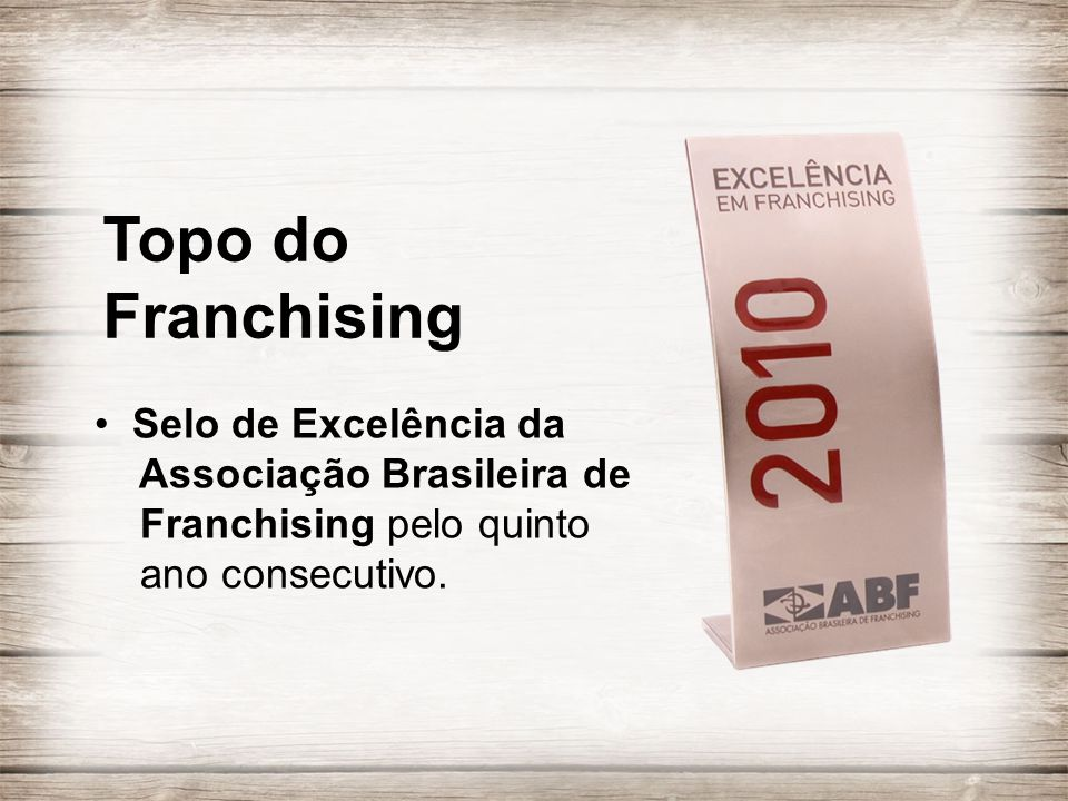 Topo do Franchising.