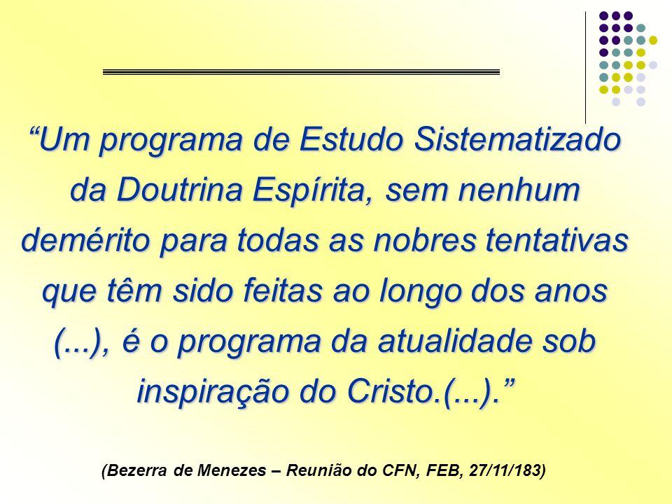 (Bezerra de Menezes – Reunião do CFN, FEB, 27/11/183)