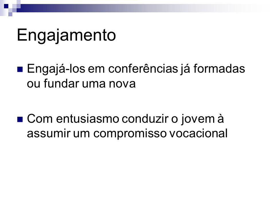 Engajamento Engajá-los em conferências já formadas ou fundar uma nova