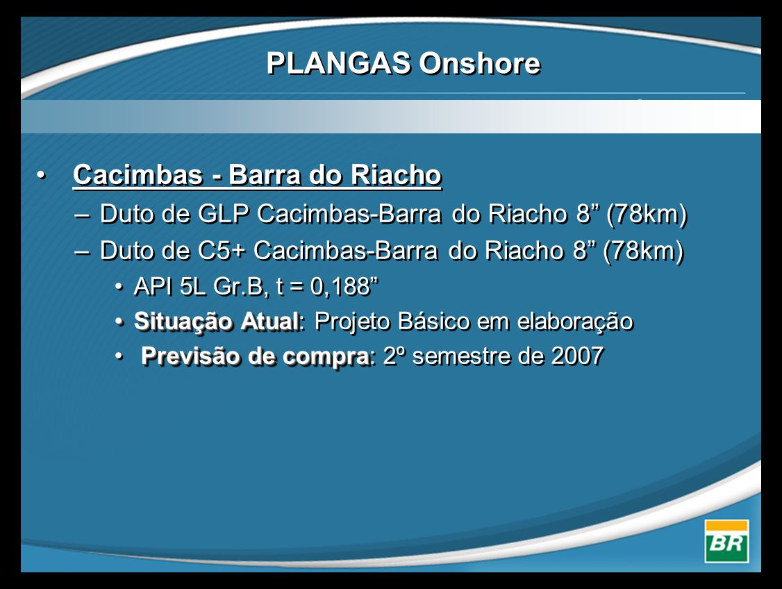 PLANGAS Onshore Cacimbas - Barra do Riacho