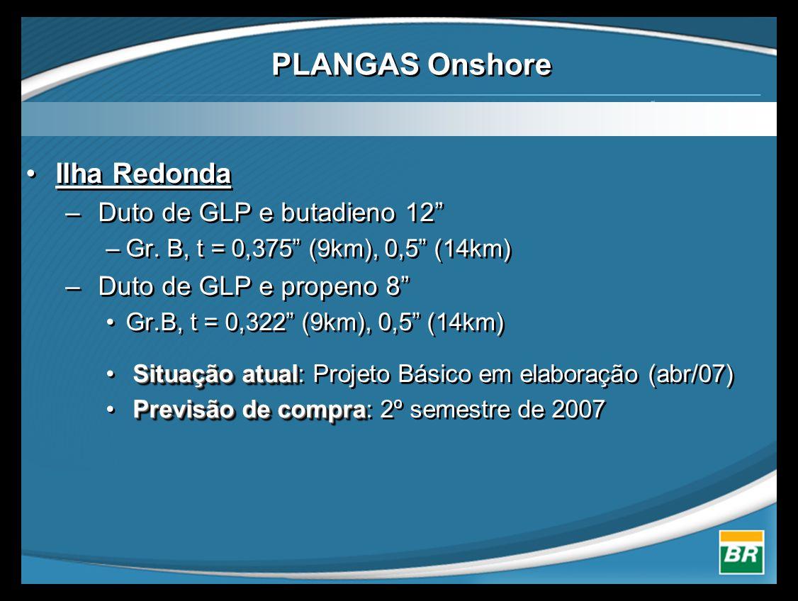 PLANGAS Onshore Ilha Redonda Duto de GLP e butadieno 12