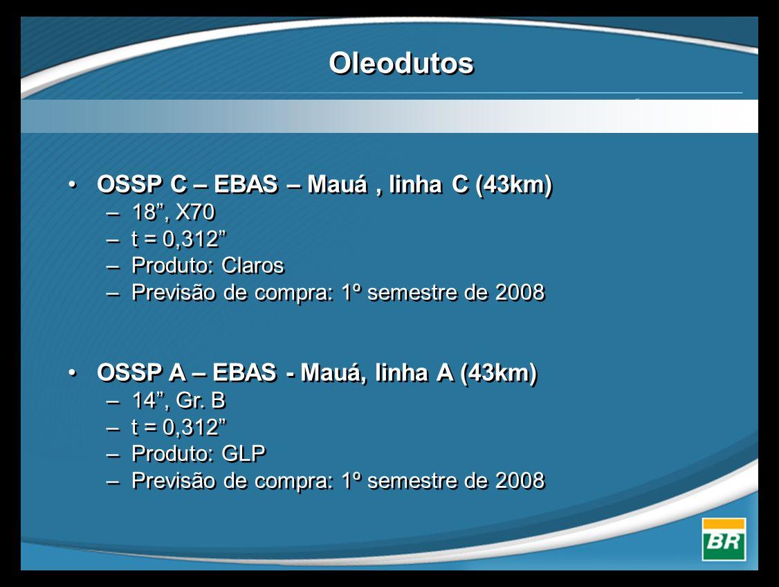 Oleodutos OSSP C – EBAS – Mauá , linha C (43km)