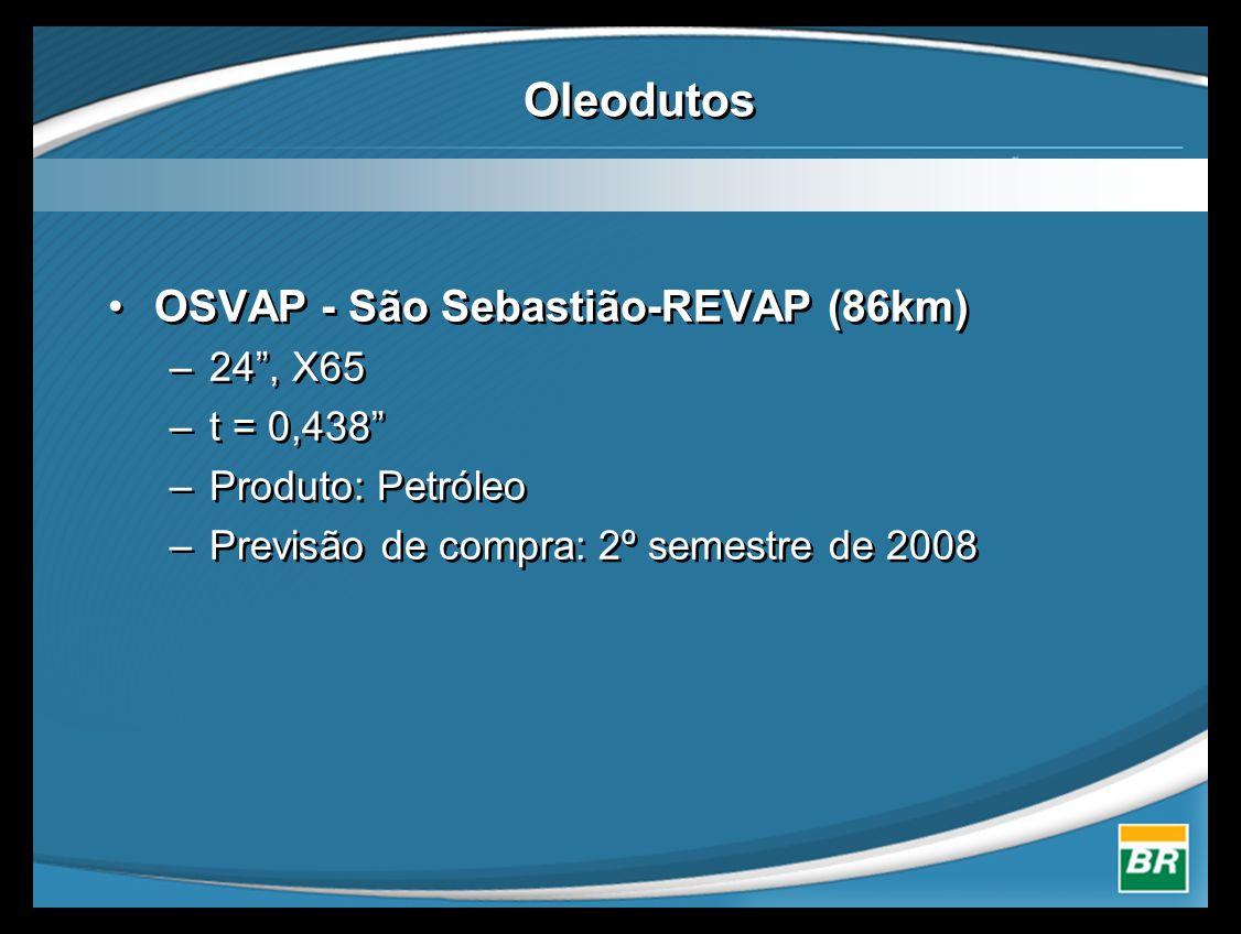 Oleodutos OSVAP - São Sebastião-REVAP (86km) 24 , X65 t = 0,438