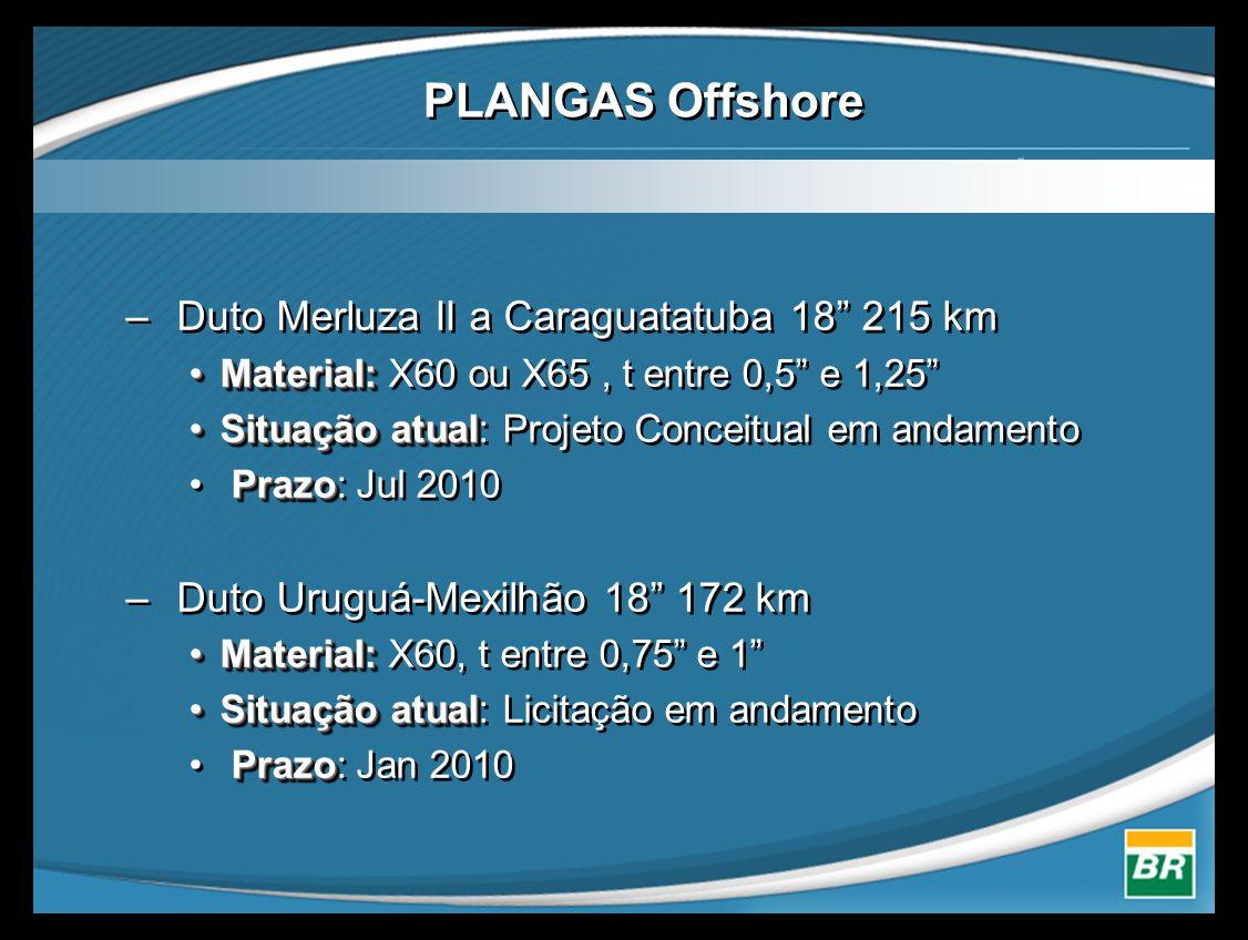 PLANGAS Offshore Duto Merluza II a Caraguatatuba 18 215 km