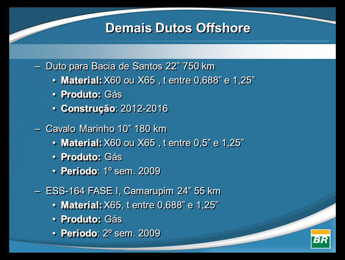Demais Dutos Offshore Duto para Bacia de Santos 22 750 km