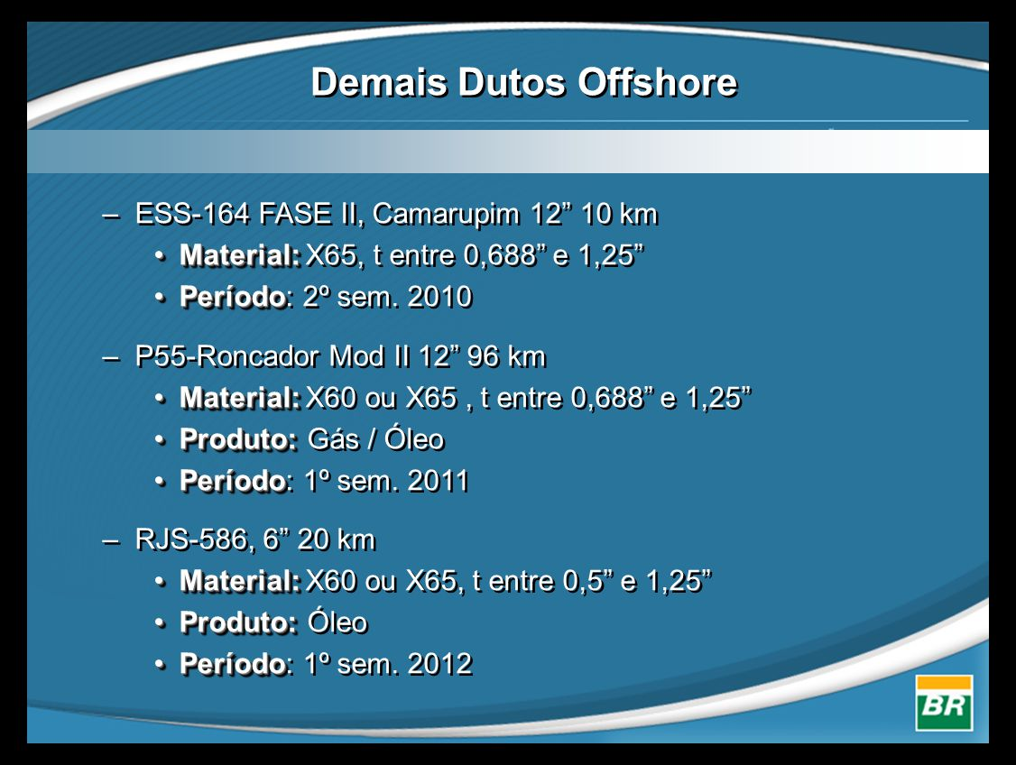 Demais Dutos Offshore ESS-164 FASE II, Camarupim 12 10 km