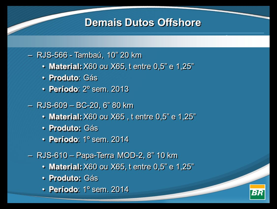 Demais Dutos Offshore RJS-566 - Tambaú, 10 20 km
