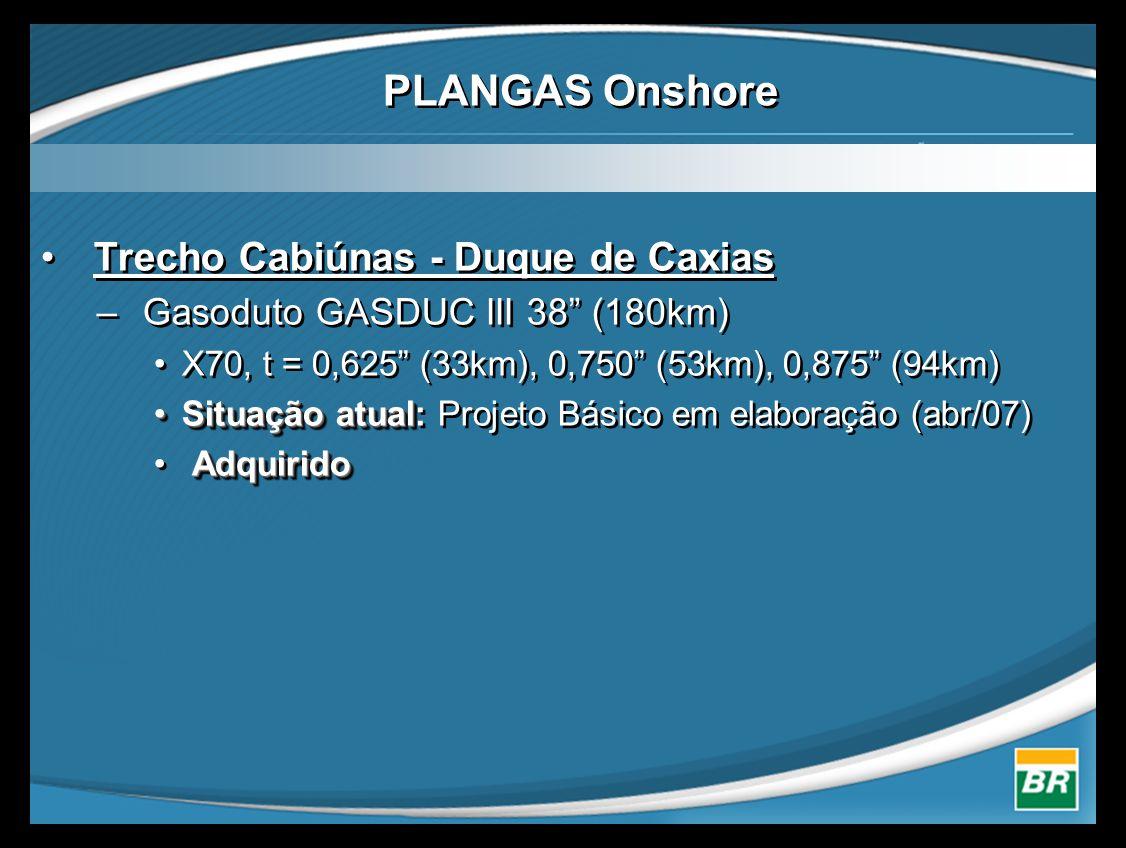 PLANGAS Onshore Trecho Cabiúnas - Duque de Caxias