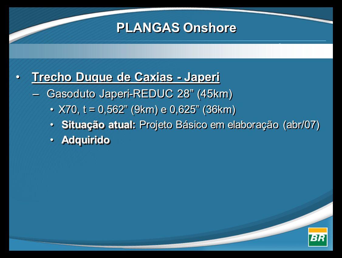PLANGAS Onshore Trecho Duque de Caxias - Japeri