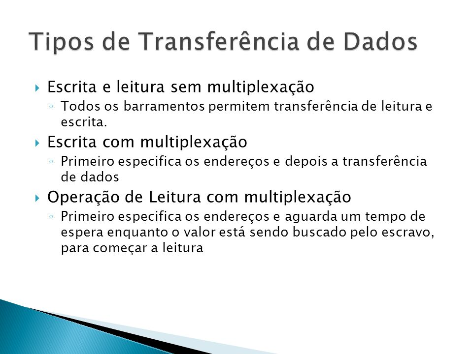 Tipos de Transferência de Dados