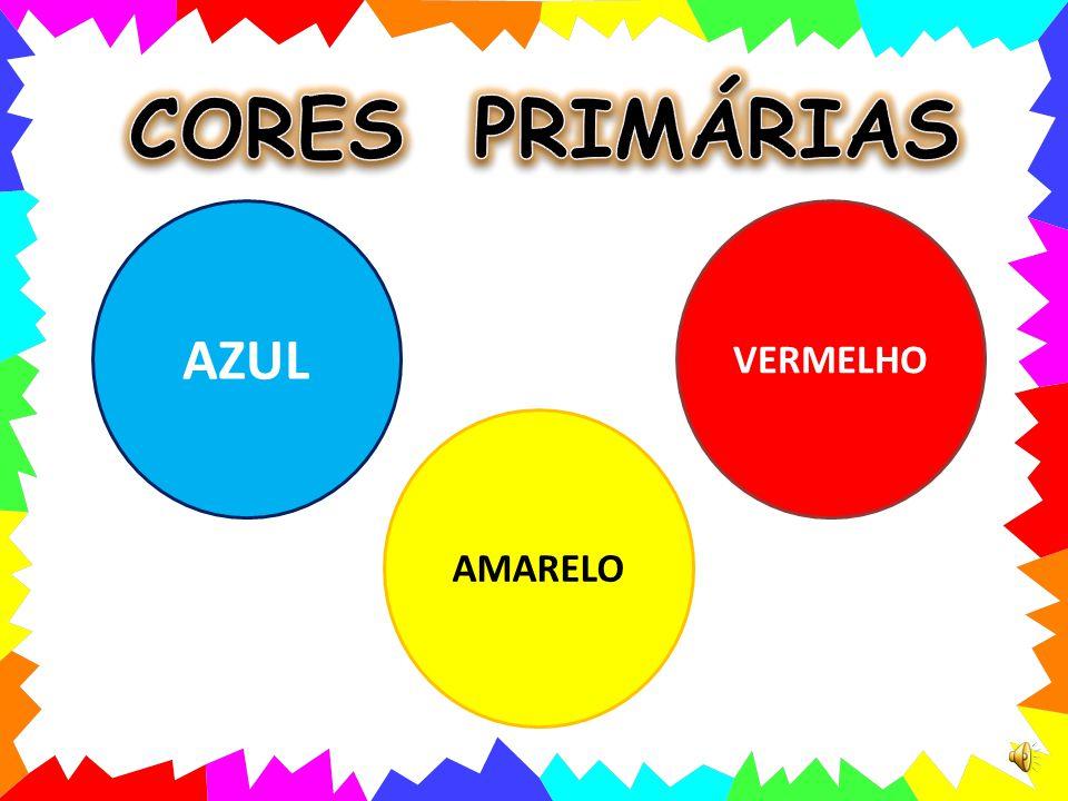 CORES PRIMÁRIAS AZUL VERMELHO AMARELO