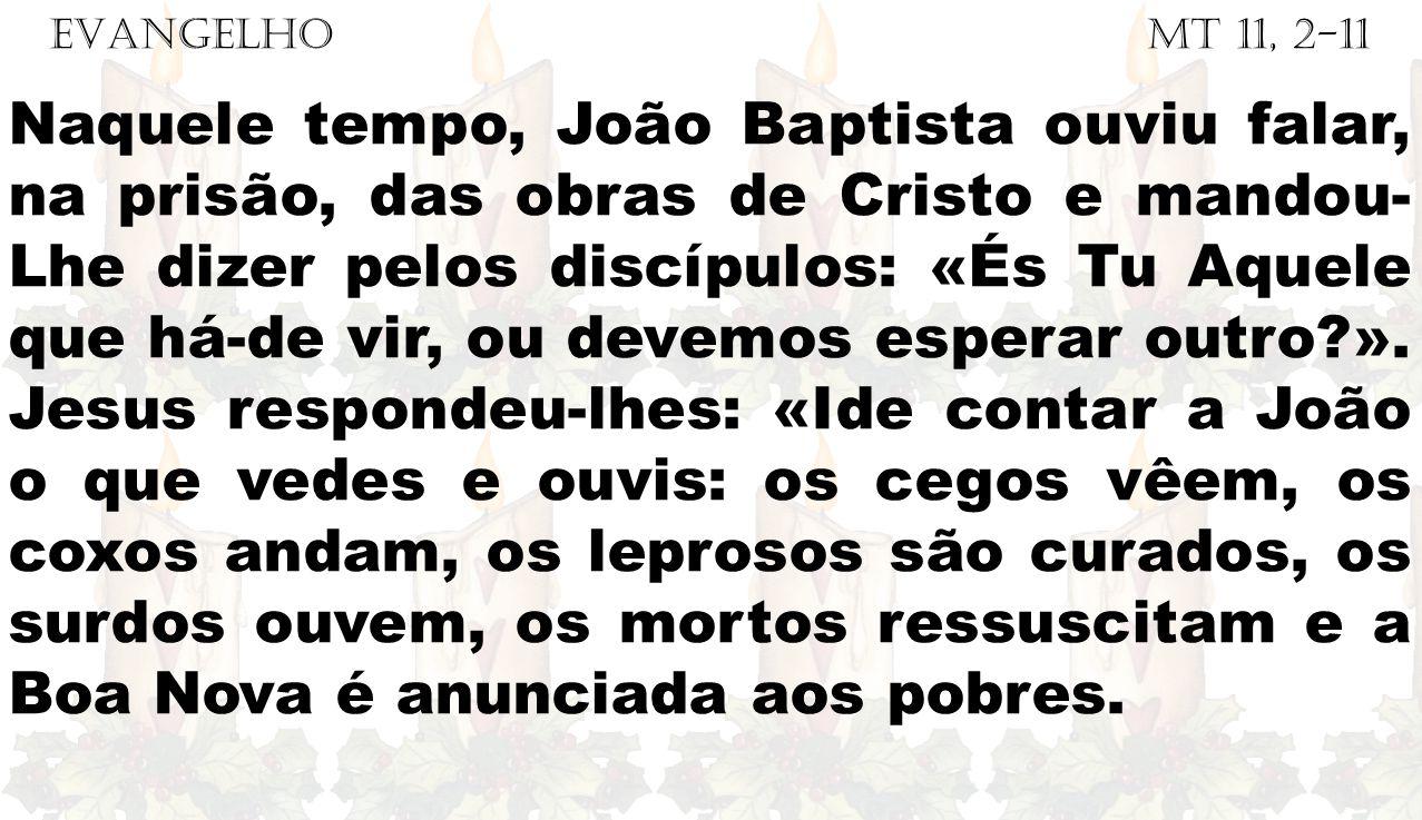 EVANGELHO Mt 11, 2-11