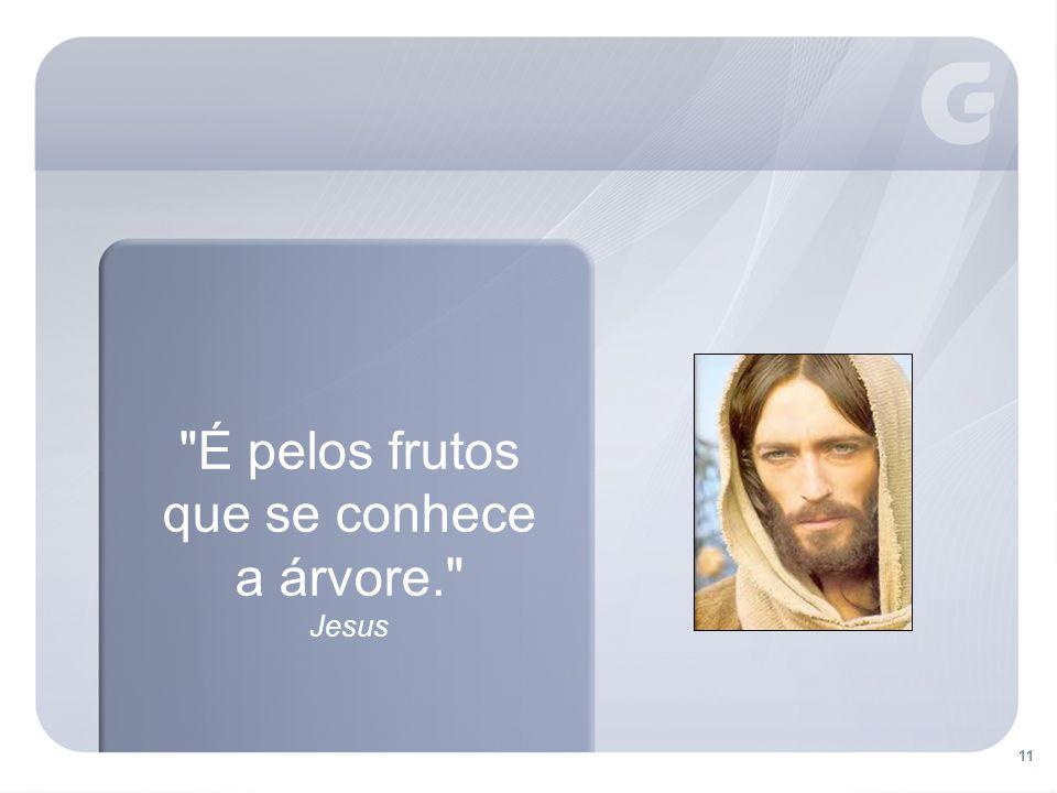 É pelos frutos que se conhece a árvore. Jesus